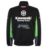 kawasaki mens motorcycle hoodie racing moto riding hoody clothing jackets men cross Zip jersey sweatshirts coat Windproof T