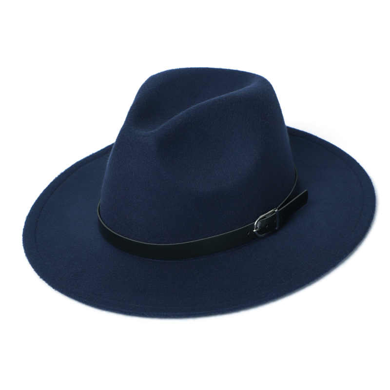 Womens Felt Hat Winter Fedora Hat Women Imitation Woolen Classic British Autumn Laday Jazz Streetwear Felt Hats for Men