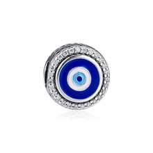 Original 925 Sterling Silver Bead Evil Eye Charm Beads Fit Women Pandora Bracelet & Bangle Diy Jewelry Kralen Wholesale цена и фото