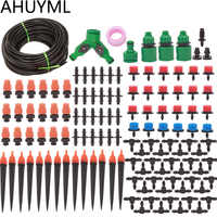 30M 50M DIY Automatic Micro Drip Irrigation System Garden Irrigation Spray Self Watering Kits with Adjustable Dripper