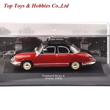 1/43 IXO Diecast Red Taxi Model Panhard Dyna Z (Paris 1953) Vehicle Car Toy Collection gift Kid Model Toys Simulation Vehicle image