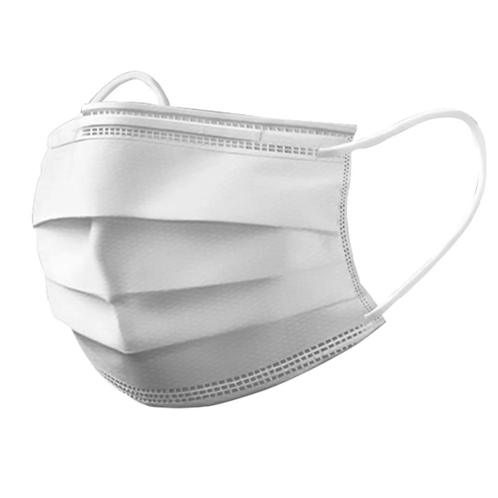 10/50/100 шт. Взрослая белая синяя маска одноразовая Нетканая 3 слойная фильтрующая маска уличная маска для лица дышащие маски|Маски|   | АлиЭкспресс