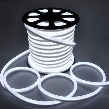 Neon LED pasek 220V ue wodoodporna odkryty Neon liny 2835 120 diody LED m taśma wstążkowa elastyczne taśmy LED światła biały ciepłe biała lampa tanie i dobre opinie XUNATA CN (pochodzenie) ROHS SALON 100000 Hours ZAWSZE WŁĄCZONY Epistar 3000-3500K 6000-6500K 220 v Smd2835 220V Flex Neon Light