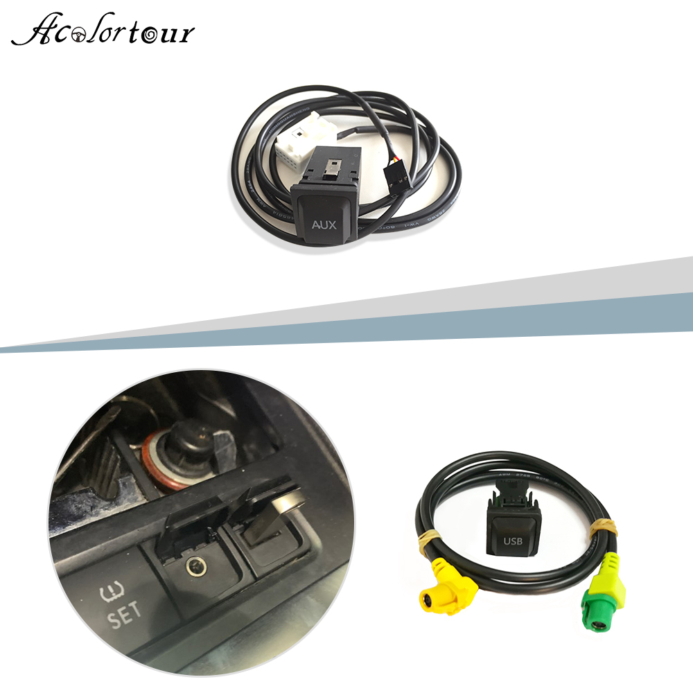 Car <font><b>USB</b></font> switch <font><b>cable</b></font> <font><b>USB</b></font> audio adapter RCD510 RNS510 RNS315 for <font><b>VW</b></font> Passat B6 B7 <font><b>Golf</b></font> 5 MK5 <font><b>Golf</b></font> <font><b>6</b></font> MK6 Jetta 5 MK5 MK6 CC Polo image