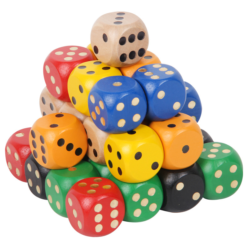 Wooden Dice 30mm Wooden Dice A Viariety Of Color Can Selection Game Dice Wooden Toy