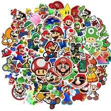100Pcs Cartoon Super Mario adesivi impermeabili per bambini valigia in PVC chitarra Skateboard moto Graffiti Sticker giocattolo per bambini