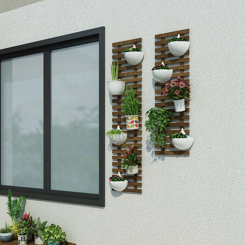 Hanger Wall Flower Rack Balcony Wall Hanging Decorate Metope Botany Suspension Type Wall Flowerpot Pylons