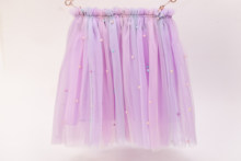 Sweet Girl Purple Pearl Tutu Skirt Clothes Mini Pettiskirt Princess Child Party Dance Rainbow Elastic 6-10T Beading Tulle Skirts