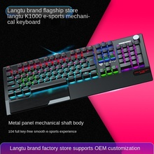 Wolftu K1000 Cyan Black Axis Gaming Luminous USB, Hot Purchase Real Mechanical Keyboard