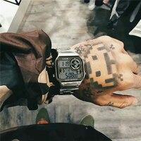 LIGE-reloj analógico de acero inoxidable para hombre, accesorio de pulsera de cuarzo resistente al agua con cronómetro, complemento masculino deportivo de marca de lujo con diseño moderno y Diseño Digital en 3Bar