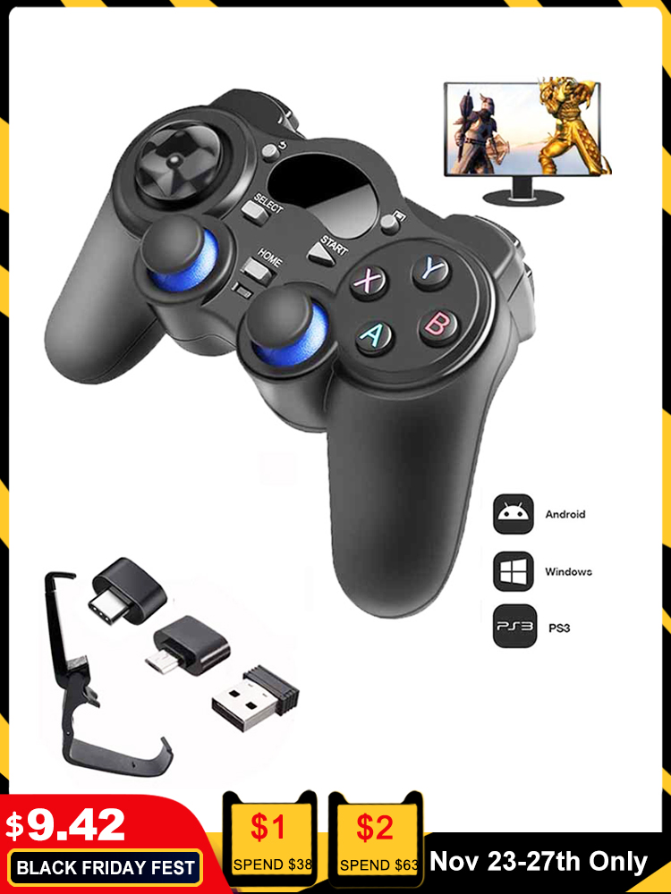 Wireless Joystick Otg-Converter Tablet Joypad Smart-Tv-Box Gamepad Android with for PC