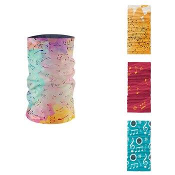New Style Music Symbol Series 3D Printed Women Headscarf Rendering Colorful Art Musical Notes Bandana Unisex Tubular Mask buffe onemix music series autumn