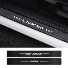 Auto Tür Threshold schwelle Aufkleber Für Mitsubishi Lancer Outlander ASX Ralliart Wettbewerb Colt Delica Evolution X Galant Pajero