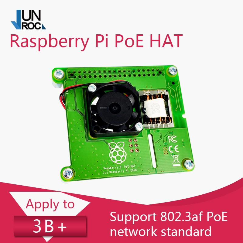 RASPBERRY PI POE HAT The Official Power-over-Ethernet Add-on Board For Raspberry Pi 4/3B+
