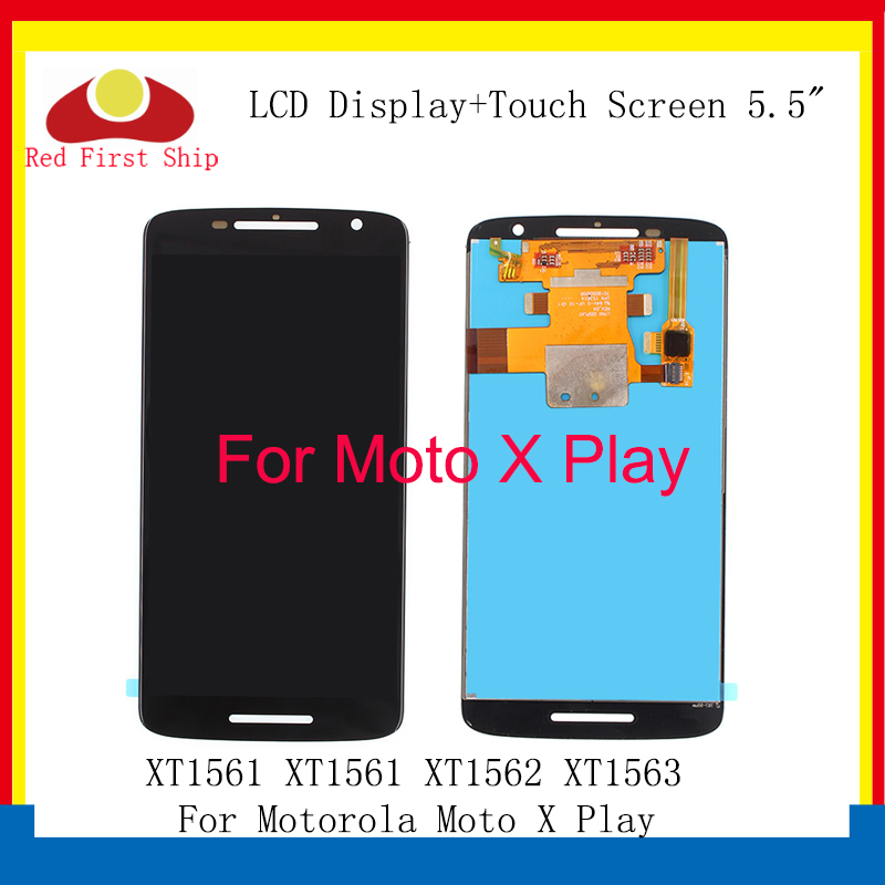 10Pcs lot LCD For Motorola X Play Display Assembly Touch Screen Digitizer For Moto X Play LCD XT1561 XT1561 XT1562 Replacement in Mobile Phone LCD Screens from Cellphones Telecommunications