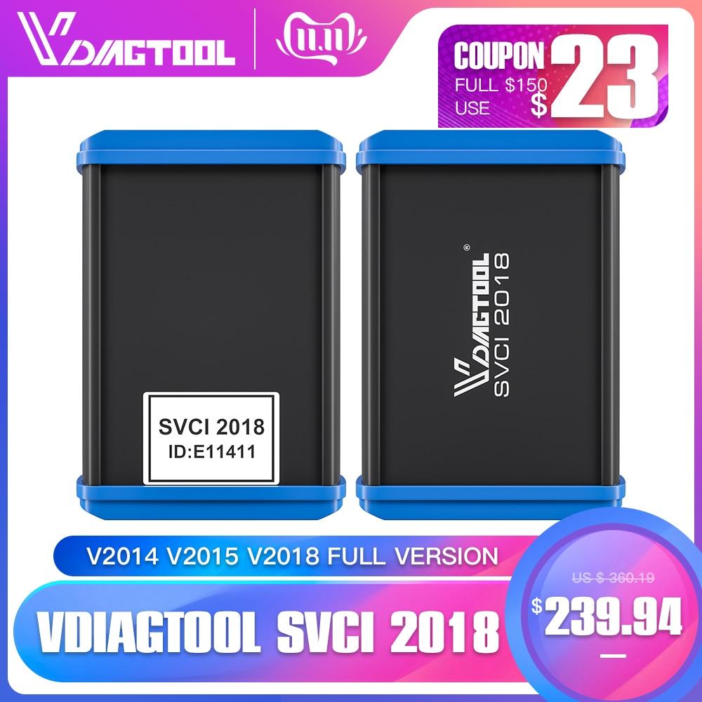 VDIAGTOOL Newest FVDI V2014 V2015 V2018 Full Version No Limited Fvdi Abrites Commander 18 Software SVCI Update Online