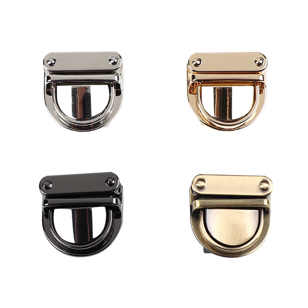 Despitego 1Pc Practical Metal Clasp Turn Lock Twist Lock For DIY Handbag Bag Purse Hardware Closure Bag Parts Accessories