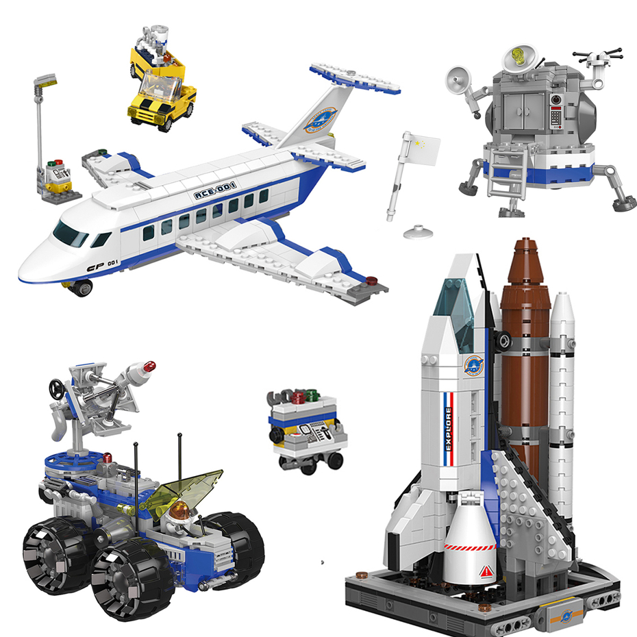 XINGBAO NEW Space Exploration Series The Shuttle Launch Center Airliner Spaceship Building Blocks Compatible Legoings Bricks