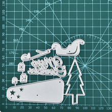DiyArts Metal Cutting Dies New 2019 Hillside Pine Merry Christmas Craft Scrapbooking Album Die Cut Embossing Stencil Decor