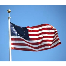 American Flag 13 Star USA Historic US Polyester Strip Banner History Business Hobby Decoration House Grommet