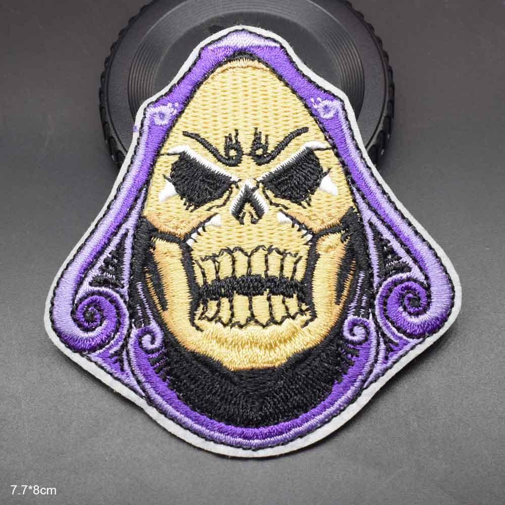 Remendo bordado assustador legal dos mestres do grito do horror para o ferro da roupa no remendo bordado