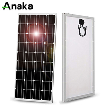 Anaka شاحن خلايا الألواح الشمسية الكريستالية ، 100 واط ، 12 فولت ، بطارية/وحدة/نظام/منزل/قارب ، صنع في الصين