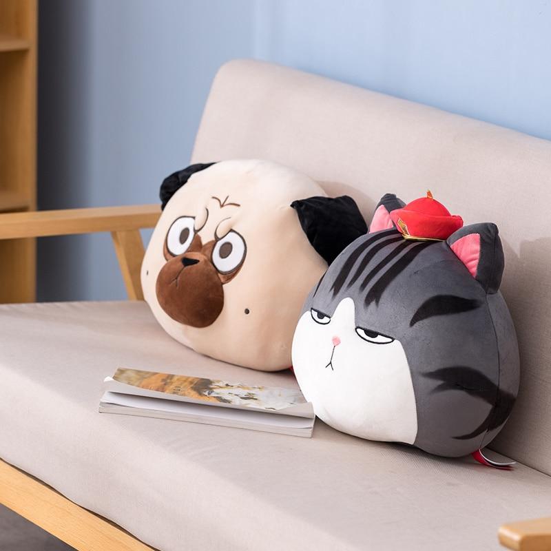 Cartoon Cat Dog Toys Stuffed Animals Pillow Soft Cute Big Seat Cushion Room Decor Funny Face Girl Companion Birthday Gift Just6F
