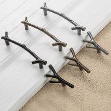 Модный шкаф для дерева Мебельная ручка черный серебристый бронзовый