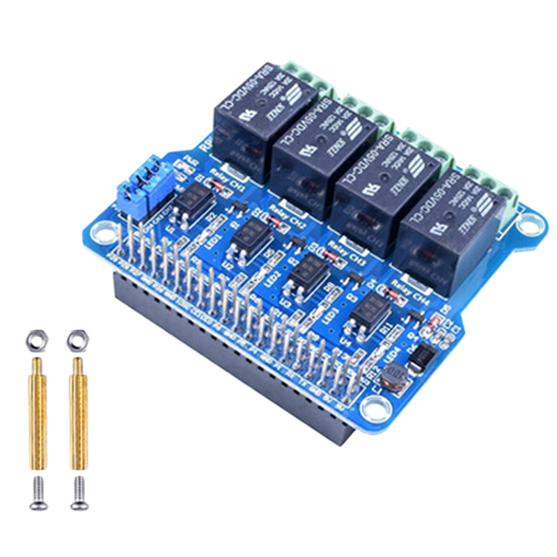 1Pcs Raspberry Pi Power Relay Board Expansion Module Shield Supports Rpi A+/B+/2 B/3 B For Home Automation Intelligent