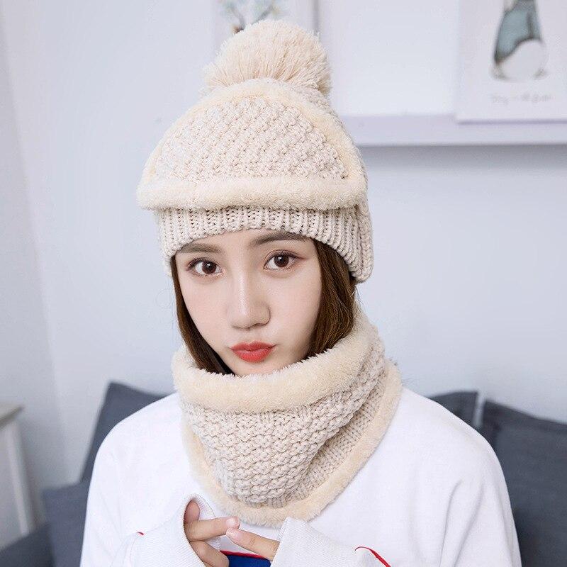Hat Earmuffs Wool-Hat Korean-Style Female Winter Women's Stylish Thick Warm Plus Che