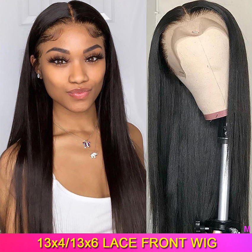HD Transparent Lace Wigs 13x4 13x6 Lace Front Human Hair Wigs Pre Plucked High Ratio Lemoda Remy 150% Brazilian Straight Wig