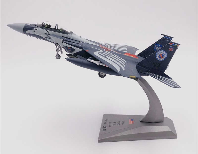 Wltk USAF F-15E Strike Eagle Fighter 1//100 Diecast Model