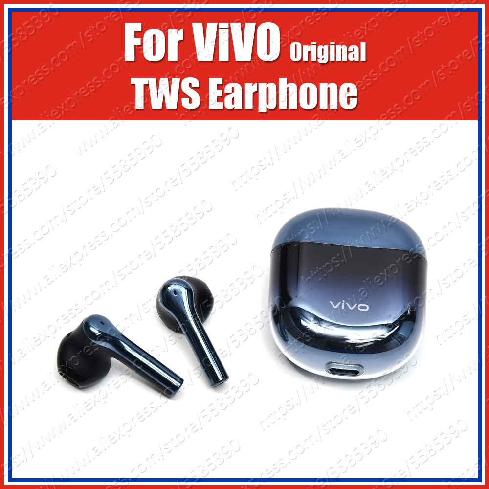 14.2mm Dynamic Original ViVO TWS Earphone Earbuds IP54 Wireless Bluetooth Headset X30 Pro Iqoo 3 Neo Pro Nex 3 U3x Z5x V17