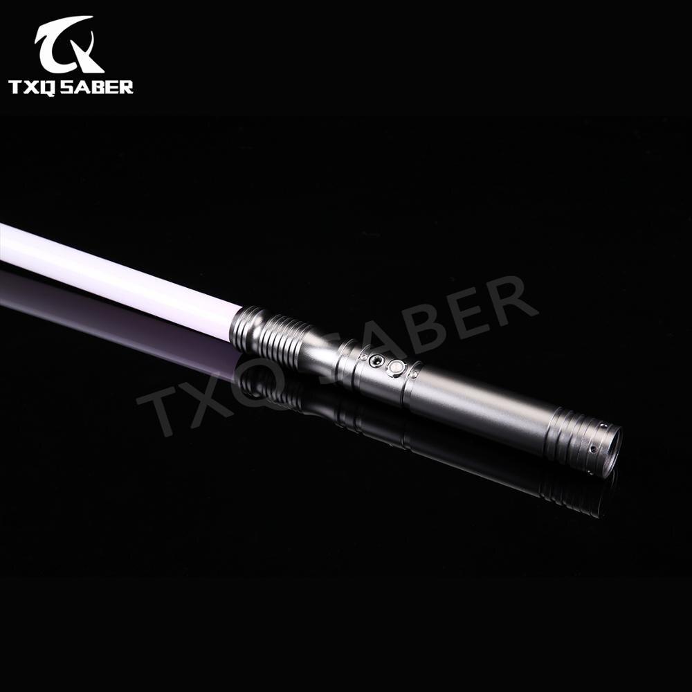 TXQsaber FOC sable láser 26,5 cm + 82cm de la fuerza FX pesado duelo de cambio de Color de Metal 6 set de sonido aprendiz Saber-TS013