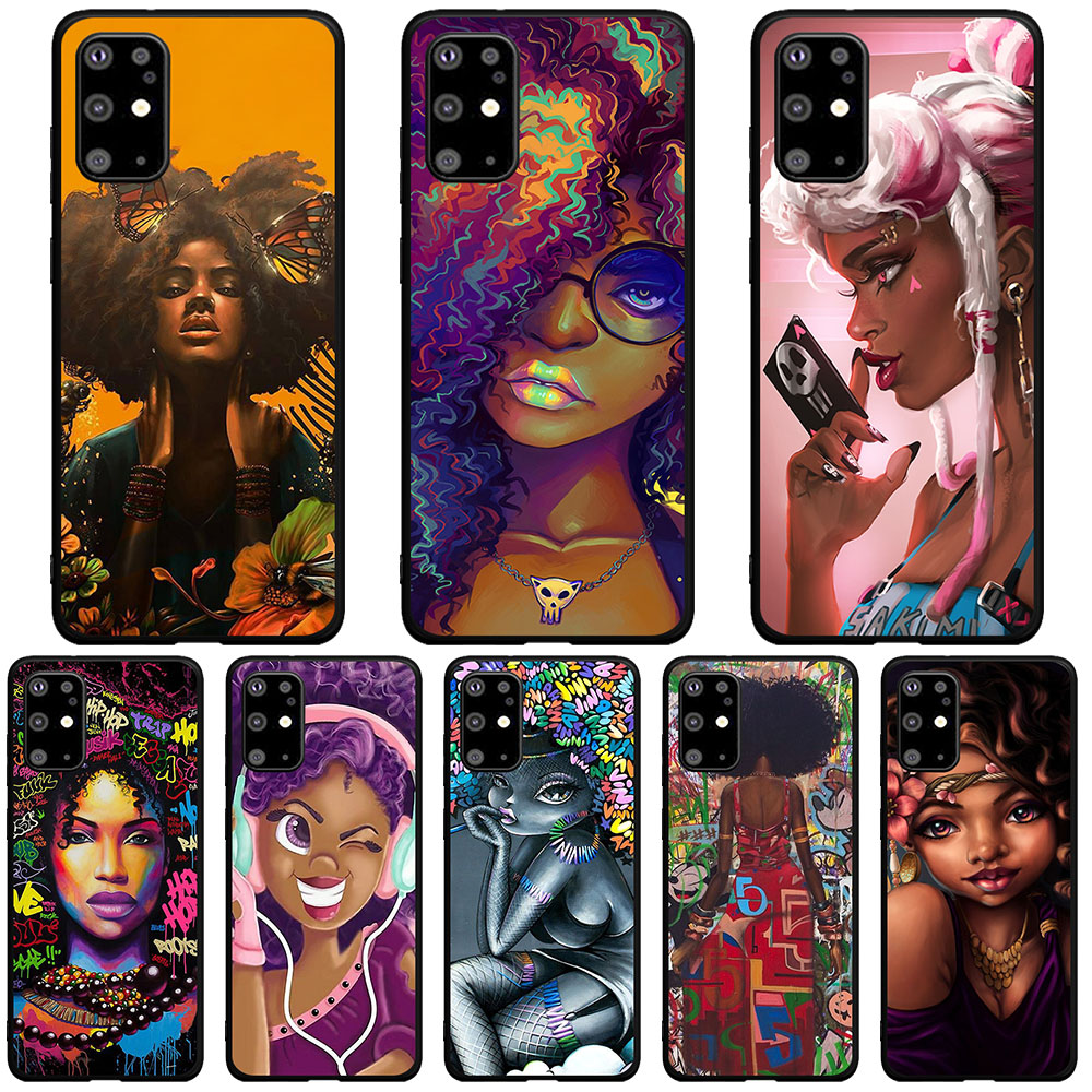 African Beauty girl TPU Soft Silicone Phone Case Cover For Samsung Galaxy S6 edge S9 S10 Plus Note 10 Plus S10 Lite Coque Shell