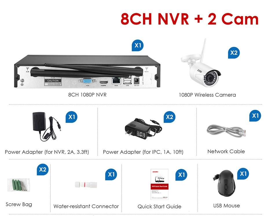 NVR1080-配件8+2