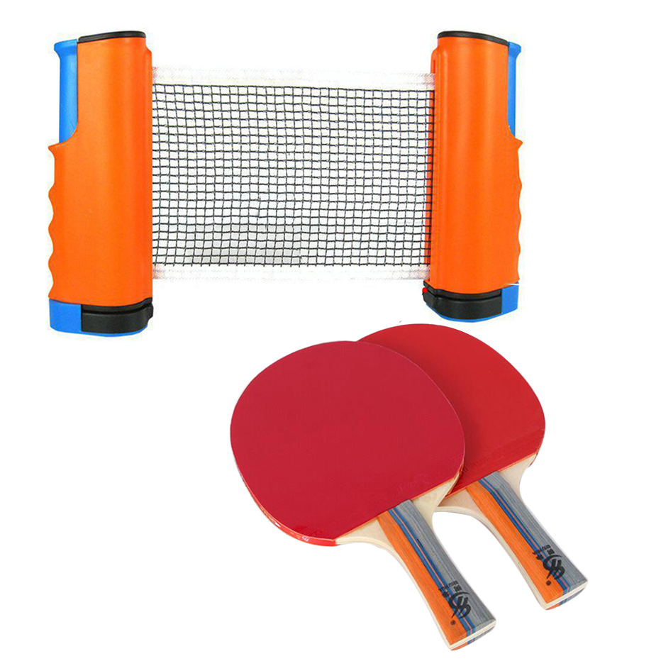 2020 Table Tennis Net Portable Anywhere Retractable Ping Pong Post Net Rack For