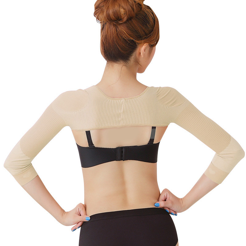 Elastic Compression Arm Slimmer Back Shoulder Corrector Long Sleeve Weight Loss Arm Control Shapewear  M88