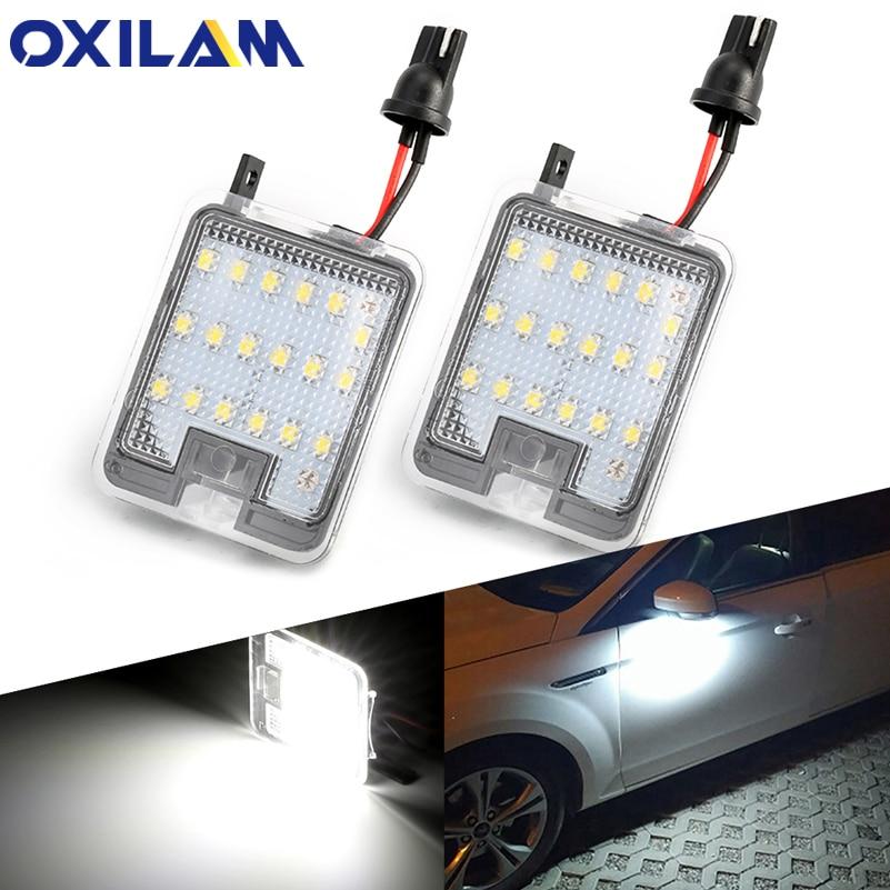 2 pces para ford s-max kuga foco c-max fuga mondeo galaxy wa6 led espelho lateral poça luz sob espelho de luz do carro-estilo