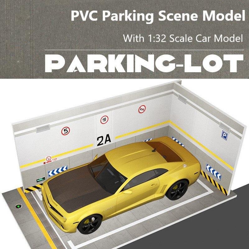 Échelle en plastique bricolage modèle PVC Parking espace scène Garage maison Collection décoration pour 1:32 Simulation alliage voiture modèle kit
