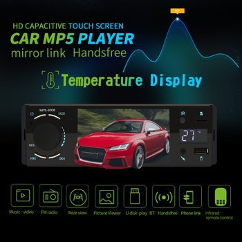 4 Car Radio Multimedia Player Bluetooth Car Radio 1 Din Mirror Link Touch Screen MP5 Video Player USB TF 3006 image