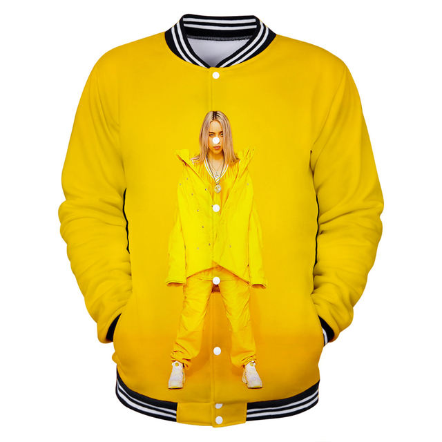 3D BILLIE EILISH BASEBALL JACKET (10 VARIAN)