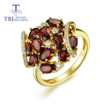 Женское кольцо с гранатом из натурального камня серебро 925