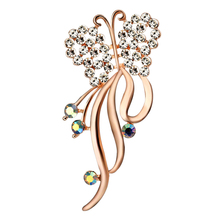Women's Brooch Butterfly Brooches for Women Accessories Metal Pin Badges on Backpack Large Brooch Pin Rose Gold Plated Jewelry rhinestoned butterfly brooch