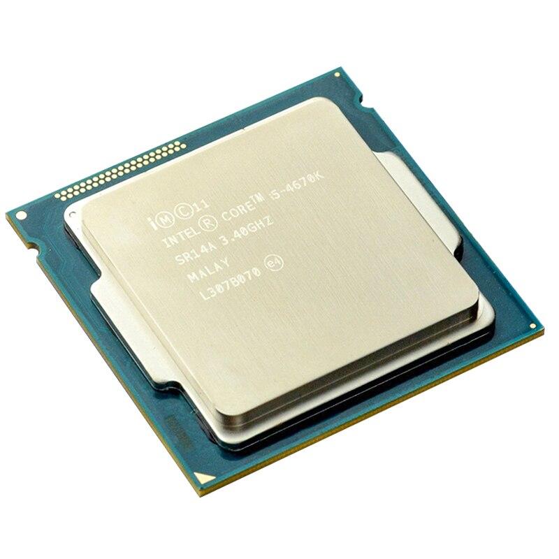 Intel Core Prozessor I5-4670K i5 4670 K I5 4670 K 3,4 GHz Quad-Core Quad-Gewinde 84W 6M CPU Prozessor LGA 1150