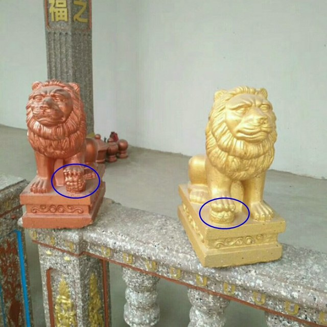 35cm/13.78in Classic European Style Durable Home Gardening/ Balcony Lion ABS Plastic Concrete Mold Male &Female Pair Statue Set