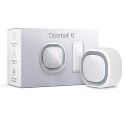 Sonnette z-wave 6 avec bouton extérieur z-wave Plus anneau sonore et lumineux mural, carillon sans fil pour maison intelligente