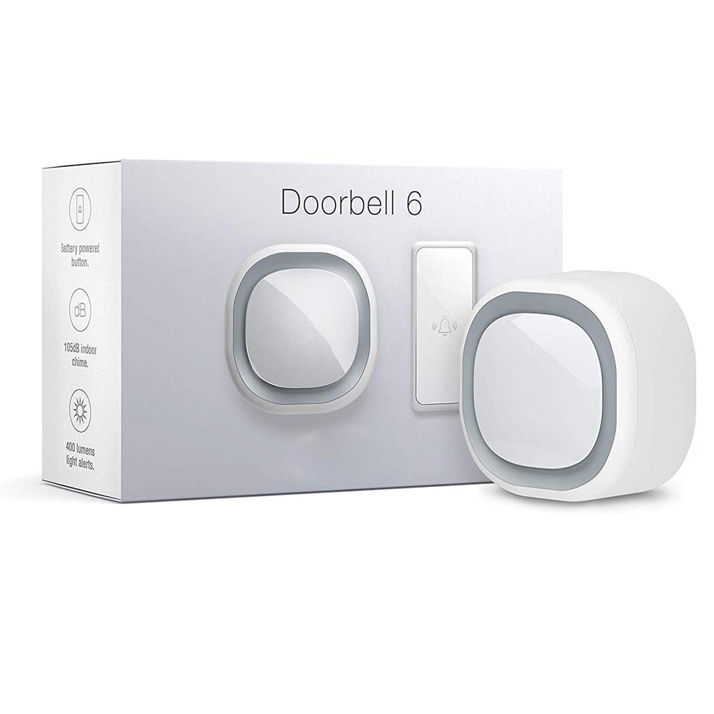 Z-Wave Doorbell 6 With Outdoor Button Z-Wave Plus Wall-Mounted Sound & Light Ring, Smart Home Wireless Chime