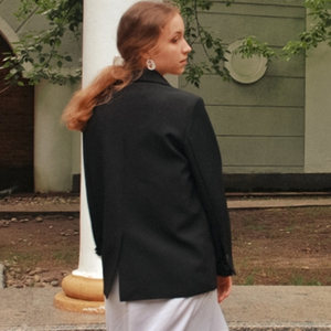 Image 5 - HziriP 2020 Elegant Black Single breasted Women Blazer Fashion Vintage Solid Loose Work Wear Tops Outerwear Female Jacket
