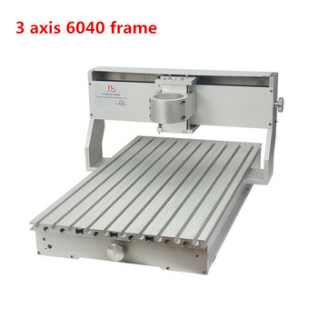 CNC router frame 60*40 3 axis 4 axis 6040 cnc frame of Engraver Engraving Drilling and Milling Machine with motor for option 4 axis cnc 6040 z s80 engraver router milling lathe machine with rotary axis and 1 5kw spindle four axis cnc6040 for 3d cnc